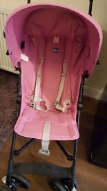 Pink stroller very good condition