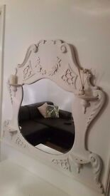 White Decorative Wall Mirror
