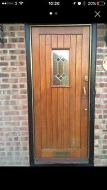 Heavy solid oak front door