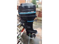 50hp mercury outboard. Electric start. Can be seen running prior to removal from boat.