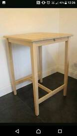 Ikea table bar and 2 stools