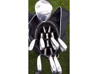 Golf Clubs Taylor Made 3 wood Left Hand plus Bag and Trolley