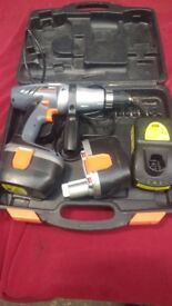 DRILL EXTREME CHALLENGE HAMMER DRILL 24V WITH 2 BATTERIES+POWER CHARGER WORKING AVAILABLE FOR SALE