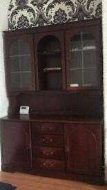 Large mahogany cabinet.