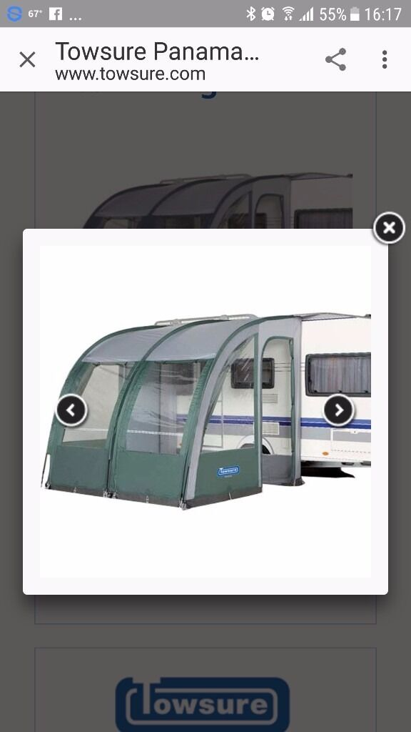 Panama XL caravan porch awning. Bought new last year used once. We needed a bigger one