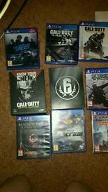 Ps4 console games and controllers