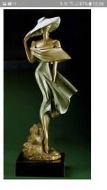 "Multibronze Austin sculpture ""The Breeze"""