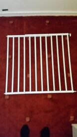 Screw mounted stair gate