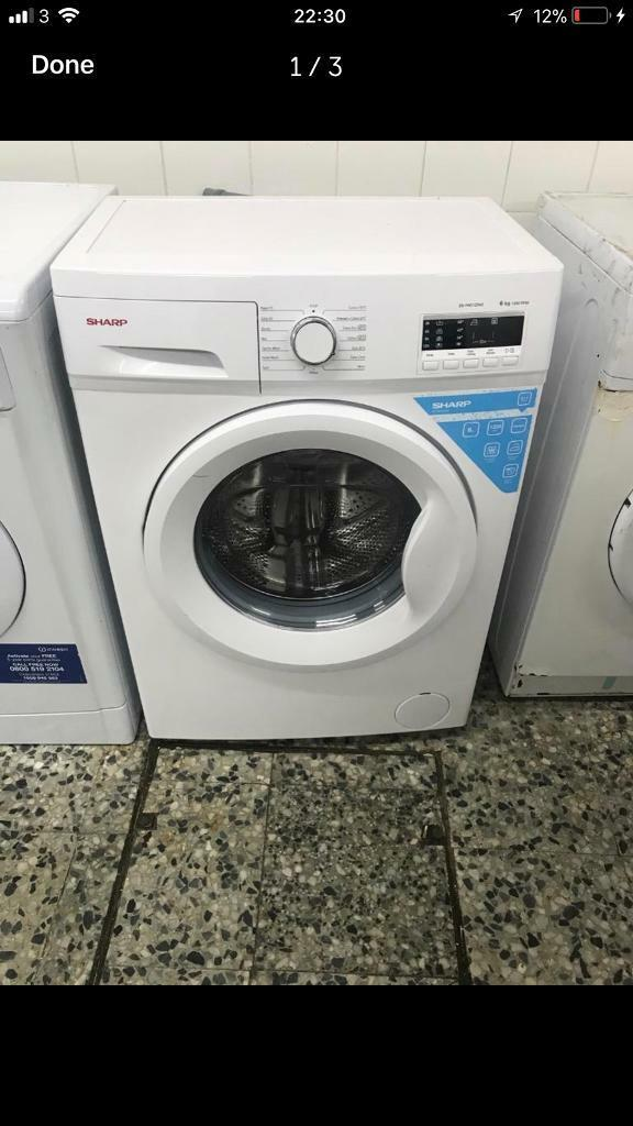Sharp washing machine 6kg 1200rpm A+ 4 month warranty free delivery and installation thanks 🙏