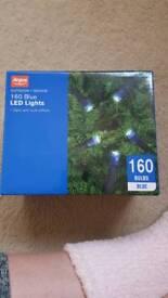 160 blue led lights