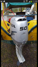 50 hp honda engine boat and trailer