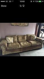 Animal print corner sofa