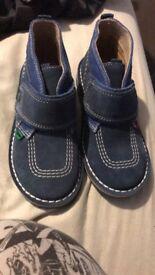 Boys blue kicker boots