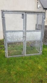 Lockable Galvanised Twin Gas Bottle Cage REDUCED TO SELL