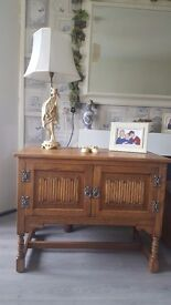 Lovely Genuine Wood bros old charm blonde oak cupboard/sideboard (Delivery Available)