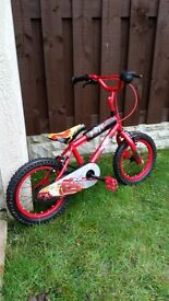 "Boys 14 "" cars bike like brand new can deliver for a small charge"