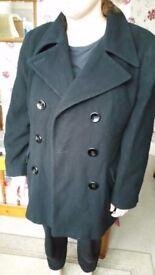 Ladies Black Coat Debenhams Nuage Size 12