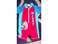***BOYS MICKEY MOUSE SWIMSUIT 9-12 MONTHS***