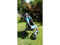 Century turquoise and black pushchair in excellent condition