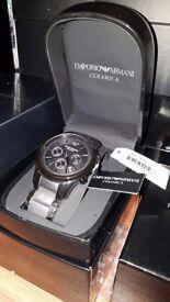 Mens Emporio Armani AR1452 Ceramica Chronograph Watch