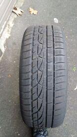 Winter tyres. 4 Hankook winter tyres used. 205-50-17. £100