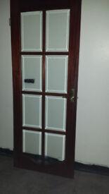 Internal door. Glass panels/Solid wood
