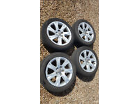 Audi VW alloys wheels and tyres 17 inch