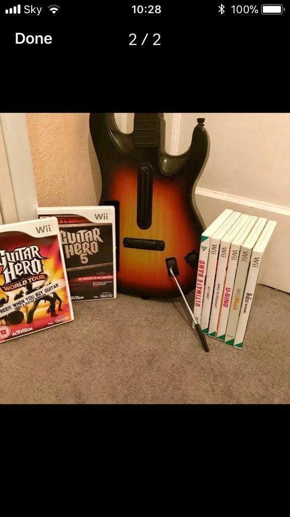 Wii Guitar Hero And Variety Of Games