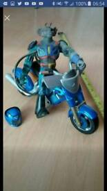 Biker mice from mars action figure modo with motorbike with shooting tyre!