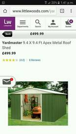 Yardmaster metal shed