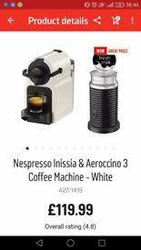 Nespresso coffee machine and milk frother
