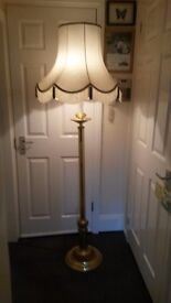 Standard Lamp with Shade.Brass stand