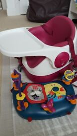 Mama and papas booster seat with activity tray