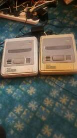 2x SNES consoles with power leads and 1 tv lead /working /read all add be4 replying /cash or swaps