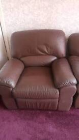 Leather recliner free to collector