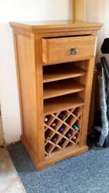 Oak furniture. Wine rack and drawer