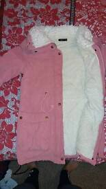 Womens cosey pink coat size small