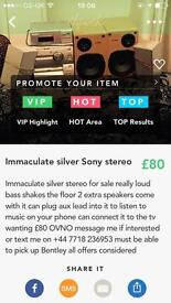 NEED GONE TODAY!Immaculate silver Sony stereo