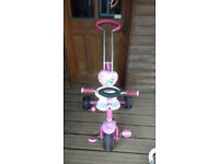 Girls disney princess tricycle with handle