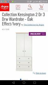 """""""Kensington"""" 2 door, 3 drawer Wardrobe"""