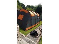 Green and orange regatta 5 man tent - offers