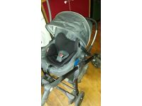Silver Cross stroller/pram with car seat