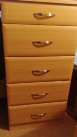 DRAWER UNIT, 5 DRAWER CHEST OF DRAWERS