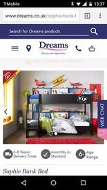 DREAMS Sophie Bunk Bed - 6 months old only