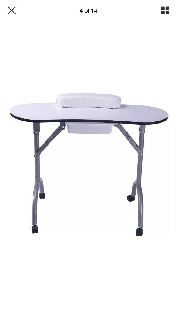 Hardly used folding nail table and chair | in Dunfermline, Fife ...