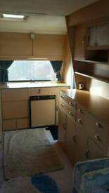 Carligh caravan fur sale very tidy conditi fur the age of it we think it's about 90s but not sure
