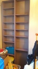2 Mdf bookshelves / shelving unit