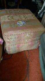 Large foot stool/poof