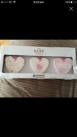 Next Baby Boutique, 3 ceramic heart plaques