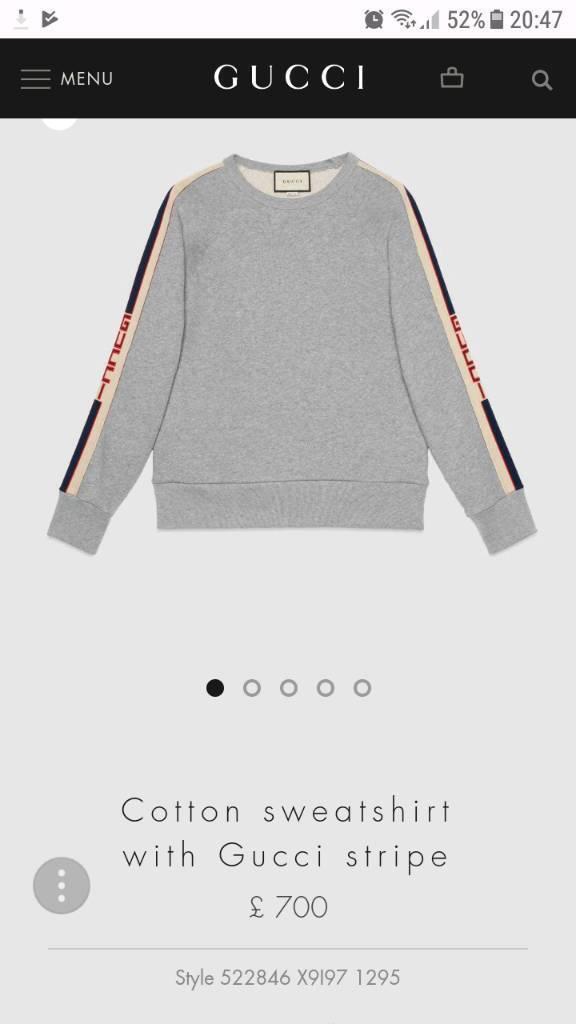 928ad75704 Men's Gucci Cotton SweatShirt | in Prestwich, Manchester | Gumtree